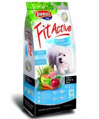 Panzi FitActive Hypoallergenic Fish, Apple & Rice 15 kg