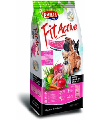 FitActive Puppy & Junior Hypoallergenic Lamb & Apple+Rice 4kg