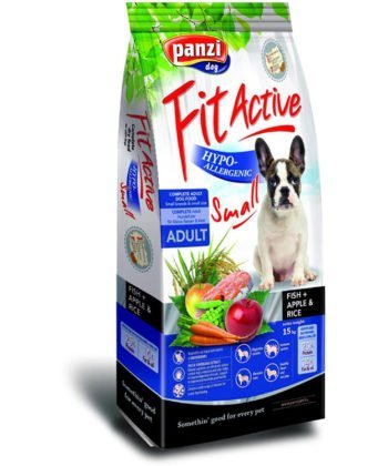 FitActive Small Adult Hypoallergenic Fish+Apple & Rice 15kg