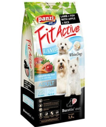 FitActive WhiteDogs Adult Hypoallergenic Lamb & Fish 1,5kg