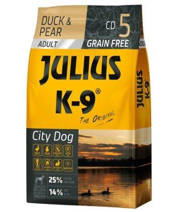 Julius K-9 City Dog Adult Grain Free Duck,Pear 10kg