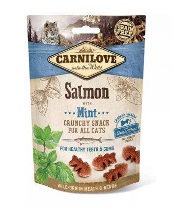 CarniLove Cat Crunchy Snack Lazac mentával 50 g