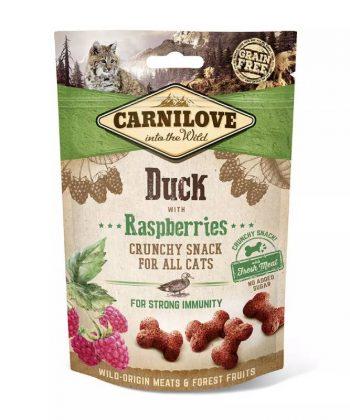 Carnilove Cat Crunchy Snack Kacsa málnával 50g