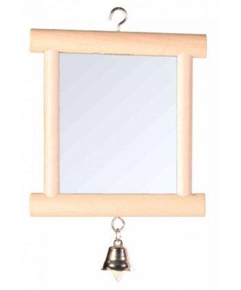 Fa tükör+csengő 9x10cm 5860