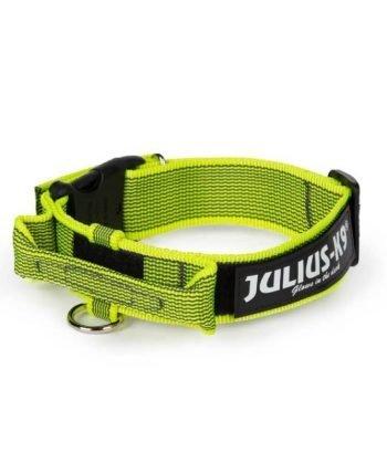 Julius-K9 Nyakörv Neon biztonsági zárral és fogóval 38-53 cm